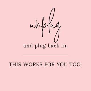 Sundays are the perfect days to unplug and spend some quality, device free, time. It can be with family, friends or by yourself if that's what you need. It doesn't have to be all day. Start by trying it for a couple hours and keep going if it feels good. You will be amazed at the difference it can make.